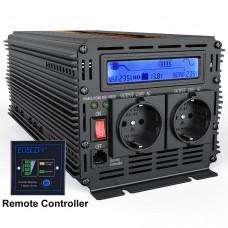 Инвертор пълна синусоида 2500W от 12 на 220 волта с UPS и зарядно